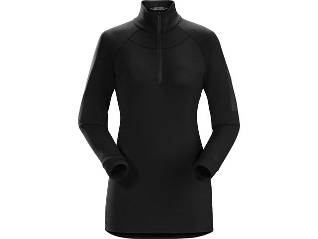 Arc'teryx Satoro AR Maglietta baselayer a maniche lunghe con zip Donna, black